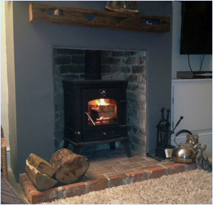 woodburning stove in use